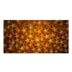 Gold Stars Satin Shawl