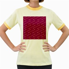 Merry Christmas,text,bordeaux Women s Fitted Ringer T-Shirts