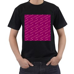 Merry Christmas,text,bordeaux Men s T-Shirt (Black) (Two Sided)