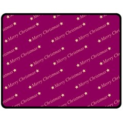 Merry Christmas,text,bordeaux Fleece Blanket (Medium)