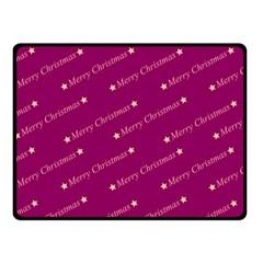 Merry Christmas,text,bordeaux Fleece Blanket (Small)