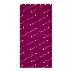 Merry Christmas,text,bordeaux Shower Curtain 36  x 72  (Stall)