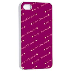 Merry Christmas,text,bordeaux Apple Iphone 4/4s Seamless Case (white)