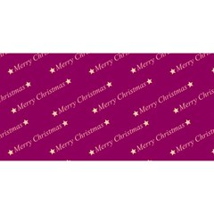 Merry Christmas,text,bordeaux YOU ARE INVITED 3D Greeting Card (8x4)