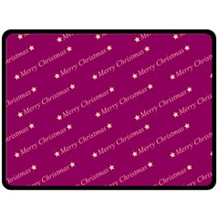 Merry Christmas,text,bordeaux Double Sided Fleece Blanket (large)