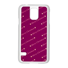 Merry Christmas,text,bordeaux Samsung Galaxy S5 Case (White)