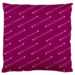 Merry Christmas,text,bordeaux Large Flano Cushion Cases (Two Sides)