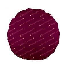 Merry Christmas,text,bordeaux Standard 15  Premium Flano Round Cushions