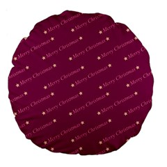 Merry Christmas,text,bordeaux Large 18  Premium Flano Round Cushions