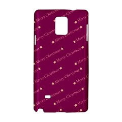Merry Christmas,text,bordeaux Samsung Galaxy Note 4 Hardshell Case