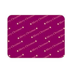 Merry Christmas,text,bordeaux Double Sided Flano Blanket (Mini)