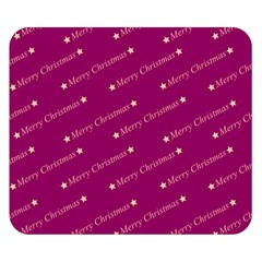 Merry Christmas,text,bordeaux Double Sided Flano Blanket (Small)