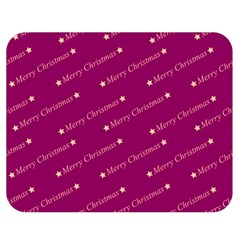Merry Christmas,text,bordeaux Double Sided Flano Blanket (Medium)