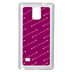 Merry Christmas,text,bordeaux Samsung Galaxy Note 4 Case (White)