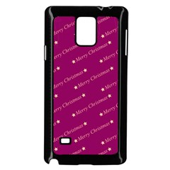 Merry Christmas,text,bordeaux Samsung Galaxy Note 4 Case (Black)