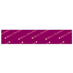 Merry Christmas,text,bordeaux Flano Scarf (Small)