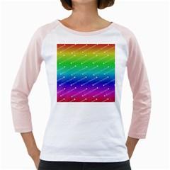 Merry Christmas,text,rainbow Girly Raglans