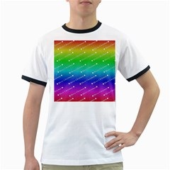 Merry Christmas,text,rainbow Ringer T-Shirts