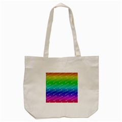 Merry Christmas,text,rainbow Tote Bag (cream)