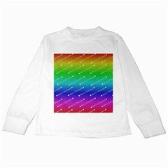 Merry Christmas,text,rainbow Kids Long Sleeve T-Shirts