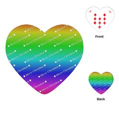 Merry Christmas,text,rainbow Playing Cards (Heart)