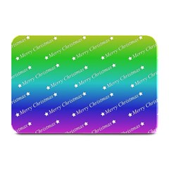 Merry Christmas,text,rainbow Plate Mats