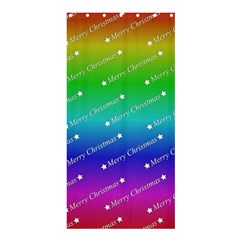 Merry Christmas,text,rainbow Shower Curtain 36  x 72  (Stall)