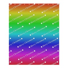 Merry Christmas,text,rainbow Shower Curtain 60  X 72  (medium)