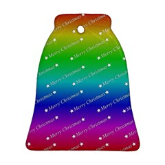 Merry Christmas,text,rainbow Bell Ornament (2 Sides)