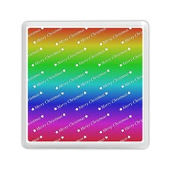 Merry Christmas,text,rainbow Memory Card Reader (Square)