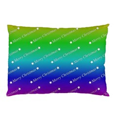 Merry Christmas,text,rainbow Pillow Cases (Two Sides)