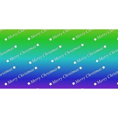 Merry Christmas,text,rainbow YOU ARE INVITED 3D Greeting Card (8x4)