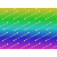 Merry Christmas,text,rainbow Birthday Cake 3D Greeting Card (7x5)