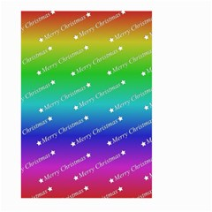 Merry Christmas,text,rainbow Large Garden Flag (Two Sides)