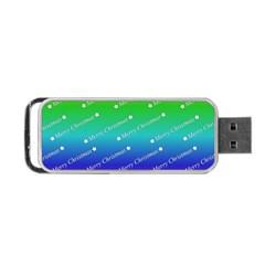 Merry Christmas,text,rainbow Portable USB Flash (Two Sides)