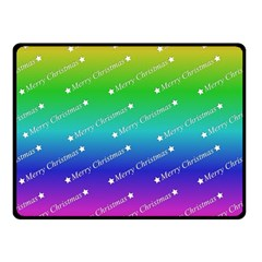 Merry Christmas,text,rainbow Double Sided Fleece Blanket (Small)