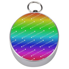 Merry Christmas,text,rainbow Silver Compasses