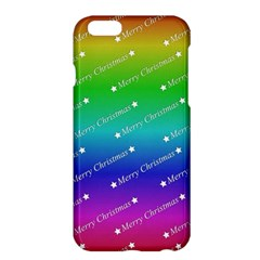 Merry Christmas,text,rainbow Apple iPhone 6 Plus Hardshell Case