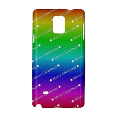 Merry Christmas,text,rainbow Samsung Galaxy Note 4 Hardshell Case