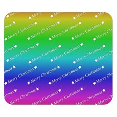 Merry Christmas,text,rainbow Double Sided Flano Blanket (Small)