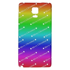 Merry Christmas,text,rainbow Galaxy Note 4 Back Case