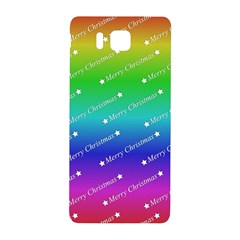 Merry Christmas,text,rainbow Samsung Galaxy Alpha Hardshell Back Case