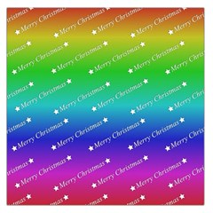 Merry Christmas,text,rainbow Large Satin Scarf (Square)