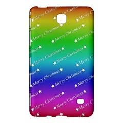 Merry Christmas,text,rainbow Samsung Galaxy Tab 4 (7 ) Hardshell Case