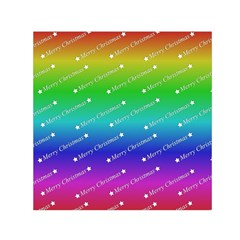 Merry Christmas,text,rainbow Small Satin Scarf (square)