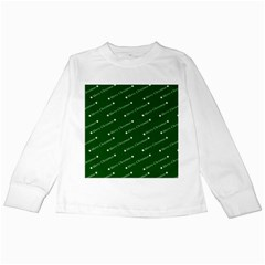 Merry Christmas,text,green Kids Long Sleeve T-Shirts