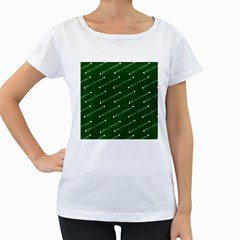 Merry Christmas,text,green Women s Loose-Fit T-Shirt (White)