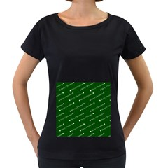 Merry Christmas,text,green Women s Loose-Fit T-Shirt (Black)