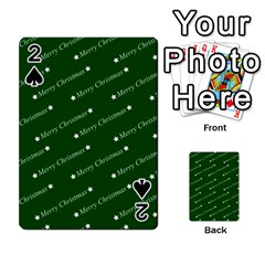 Merry Christmas,text,green Playing Cards 54 Designs