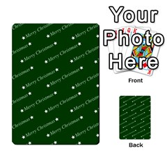 Merry Christmas,text,green Multi-purpose Cards (Rectangle)